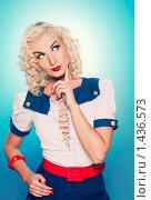 Купить «Портрет девушки в стиле ретро», фото № 1436573, снято 11 августа 2009 г. (c) Andrejs Pidjass / Фотобанк Лори