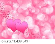 Купить «Розовый фон с сердечками», иллюстрация № 1438549 (c) ElenArt / Фотобанк Лори