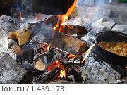 Приготовление еды на костре. Стоковое фото, фотограф Лизунова Анастасия / Фотобанк Лори