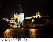 Купить «Ночная Прага, Старый город», фото № 1440445, снято 29 марта 2009 г. (c) Бельская (Ненько) Анастасия / Фотобанк Лори