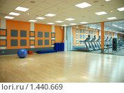Купить «Фитнес. Зал групповых занятий», фото № 1440669, снято 25 декабря 2008 г. (c) Боев Дмитрий / Фотобанк Лори
