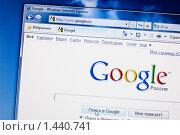 Купить «Окно интернета со страницей поисковика Google», фото № 1440741, снято 3 февраля 2010 г. (c) Кекяляйнен Андрей / Фотобанк Лори