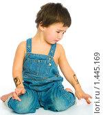 Купить «Грустный маленький мальчик», фото № 1445169, снято 13 ноября 2008 г. (c) Козловская Ксения / Фотобанк Лори
