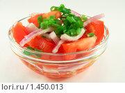 Салат из помидоров и лука. Стоковое фото, фотограф Александр Рюмин / Фотобанк Лори