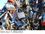 Купить «Замки молодоженов», фото № 1456653, снято 6 февраля 2010 г. (c) Екатерина Овсянникова / Фотобанк Лори