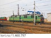 Купить «Электровоз ВЛ-80», эксклюзивное фото № 1460797, снято 15 апреля 2009 г. (c) Алёшина Оксана / Фотобанк Лори