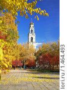 Купить «Осенний пейзаж с колокольней Вознесенской церкви в Екатеринбурге», фото № 1464493, снято 4 октября 2008 г. (c) Михаил Марковский / Фотобанк Лори