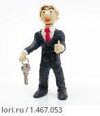 Купить «Человек с ключами в руке», эксклюзивное фото № 1467053, снято 8 февраля 2010 г. (c) Юрий Морозов / Фотобанк Лори