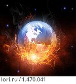 Купить «Земной шар в огне», иллюстрация № 1470041 (c) Константин Юганов / Фотобанк Лори