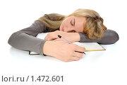 Купить «Студентка спит на раскрытой книге», фото № 1472601, снято 4 февраля 2010 г. (c) Валерий Александрович / Фотобанк Лори