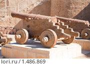 Купить «Старая пушка в Эль-Кусейр», фото № 1486869, снято 3 января 2010 г. (c) Яков Филимонов / Фотобанк Лори