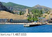 Купить «Побережье города Судак (Крым)», фото № 1487033, снято 20 июня 2009 г. (c) Юрий Брыкайло / Фотобанк Лори