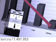 Купить «Бизнес. Кризис. График. Падение финансовых показателей», фото № 1491953, снято 13 июля 2020 г. (c) Юлия Тверитинова / Фотобанк Лори
