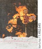 Купить «Горящее чучело Масленицы», фото № 1492645, снято 20 февраля 2010 г. (c) Людмила Куклицкая / Фотобанк Лори
