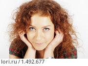 Купить «Рыжая девушка. Портрет.», фото № 1492677, снято 24 октября 2009 г. (c) Акопян Мариам / Фотобанк Лори