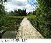 Дощатый мост через маленькую речку. Стоковое фото, фотограф Вера Попова / Фотобанк Лори
