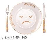 Купить «Грустная тарелка», фото № 1494165, снято 9 декабря 2009 г. (c) Черников Роман / Фотобанк Лори