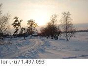 Зимний закат. Стоковое фото, фотограф Любовь Семерьянова / Фотобанк Лори