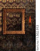 Старинная рама и подсвечник на стене. Стоковая иллюстрация, иллюстратор Stanislav Kharchevskyi / Фотобанк Лори