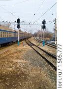Купить «Железная дорога», фото № 1505777, снято 11 апреля 2009 г. (c) Максим Лоскутников / Фотобанк Лори