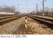 Купить «Железная дорога», фото № 1505781, снято 11 апреля 2009 г. (c) Максим Лоскутников / Фотобанк Лори