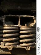 Купить «Фрагмент поезда», фото № 1505789, снято 11 апреля 2009 г. (c) Максим Лоскутников / Фотобанк Лори