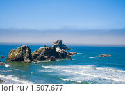 Купить «Морской пейзаж (Экола парк, Кэннон бич, Орегон, США)», фото № 1507677, снято 21 мая 2018 г. (c) yelena demyanyuk / Фотобанк Лори