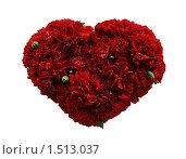 Сердце из гвоздик. Стоковое фото, фотограф Stanislav Kharchevskyi / Фотобанк Лори