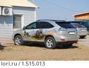 Купить «Аэрография на  автомобиле», эксклюзивное фото № 1515013, снято 12 апреля 2009 г. (c) Алёшина Оксана / Фотобанк Лори