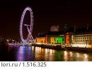 Лондон, аквариум и колесо обозрения London eye (2009 год). Редакционное фото, фотограф Paul Bee / Фотобанк Лори