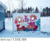 """Купить «Экспресс """"фотошоп"""". Рамка для фотографирования в зимнем парке.», фото № 1518189, снято 5 января 2010 г. (c) Денис Кравченко / Фотобанк Лори"""
