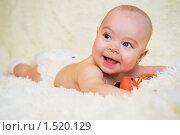 Улыбающийся ребенок. Стоковое фото, фотограф Калинина Алиса / Фотобанк Лори