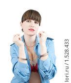 Купить «Женщины в военной форме и в наручниках», фото № 1528433, снято 15 ноября 2009 г. (c) Яков Филимонов / Фотобанк Лори