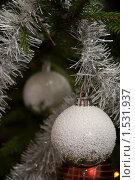 Купить «Шары на новогодней ёлке», фото № 1531937, снято 27 декабря 2009 г. (c) Андрей Лабутин / Фотобанк Лори