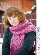 Купить «Зимний портрет девушки», фото № 1546865, снято 19 февраля 2010 г. (c) Анна Лурье / Фотобанк Лори
