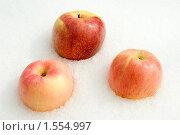 Купить «Снег и яблоки», фото № 1554997, снято 14 марта 2010 г. (c) Владимир Гуторов / Фотобанк Лори