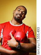 Купить «Портрет боксера», фото № 1555493, снято 27 июня 2008 г. (c) Константин Сутягин / Фотобанк Лори