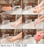 Купить «Мытье рук», фото № 1556129, снято 10 октября 2008 г. (c) Воронин Владимир Сергеевич / Фотобанк Лори