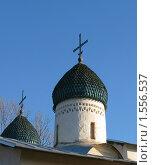 Фрагмент церкви Покрова и Рождества Богородицы в Пскове (2009 год). Стоковое фото, фотограф Валентина Троль / Фотобанк Лори