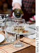 Купить «Бокал вина», фото № 1557685, снято 3 марта 2010 г. (c) Александр Подшивалов / Фотобанк Лори