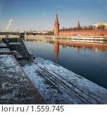Вид на Кремль и его отражения. Стоковое фото, фотограф Наталья Гребенюк / Фотобанк Лори