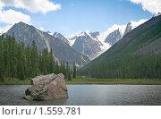 Шавлинское озеро, Горный Алтай. Стоковое фото, фотограф Антон Соколов / Фотобанк Лори