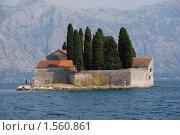 Остров святителя Георгия в Черногории. Стоковое фото, фотограф Наталья Гребенюк / Фотобанк Лори