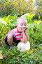 Мальчик с большим кабачком, фото № 1565817, снято 10 сентября 2009 г. (c) Елена Блохина / Фотобанк Лори