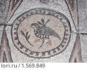 Купить «Античная греческая мозаика, фрагмент», фото № 1569849, снято 20 октября 2009 г. (c) Pshenichka / Фотобанк Лори
