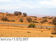 Пустыня в Марокко. Стоковое фото, фотограф Станислав Парамонов / Фотобанк Лори