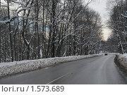 Купить «Зимняя дорога», фото № 1573689, снято 17 февраля 2007 г. (c) Николай Богоявленский / Фотобанк Лори
