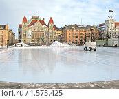 Купить «Городской каток на Привокзальной площади. Хельсинки. Финляндия», фото № 1575425, снято 13 марта 2010 г. (c) Румянцева Наталия / Фотобанк Лори
