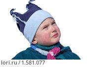 Плачущий мальчик смотрит вверх,изолировано. Стоковое фото, фотограф Константин Бабенко / Фотобанк Лори