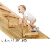 Малыш и лестница. Стоковое фото, фотограф Svetlana Mihailova / Фотобанк Лори
